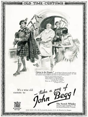 Piping In The Haggis, John Begg Whisky