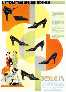 Dolcis Shoes, Black Matt Kid, 1931