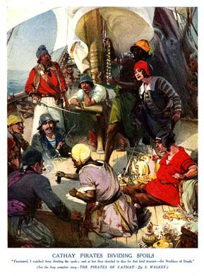 Cathay Pirates Dividing Spoils