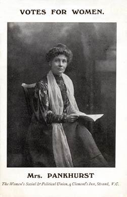 Mrs Pankhurst, 1908
