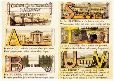 Cousin Chatterbox Railway Alphabet, 1845