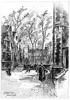 Master's House From Inner Temple, 1892