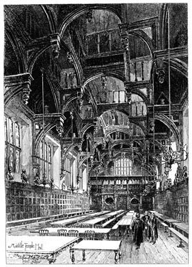 Middle Temple Hall, 1892