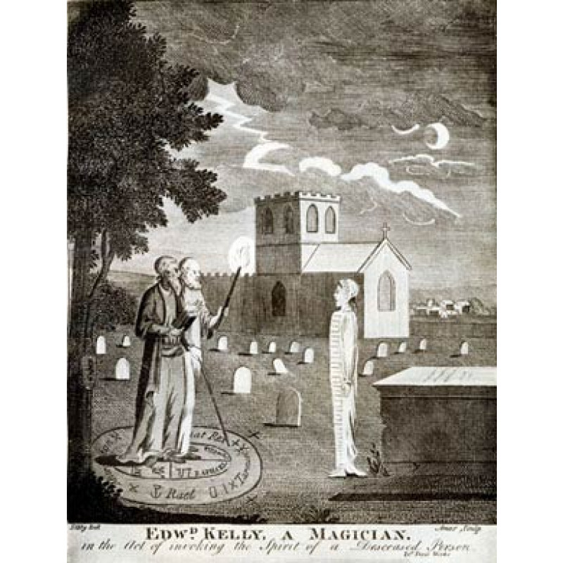 Edward Kelly and John Dee Invoking the Dead