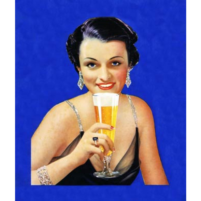 Lady Drinking Beer