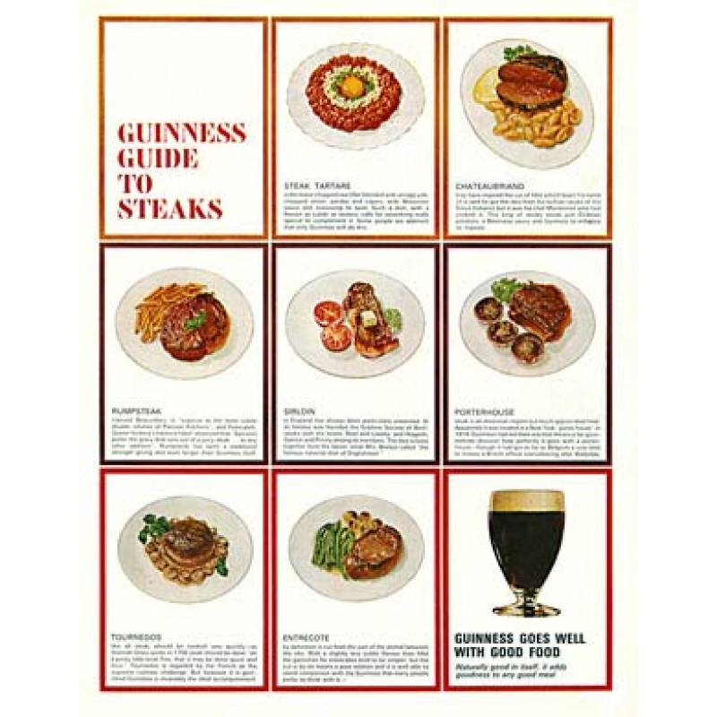 Guinness, Guide to Steaks
