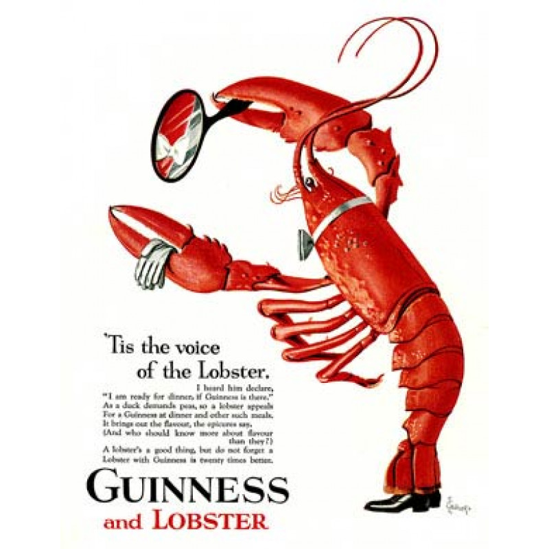 Guinness, Voice of the Lobster, 1931