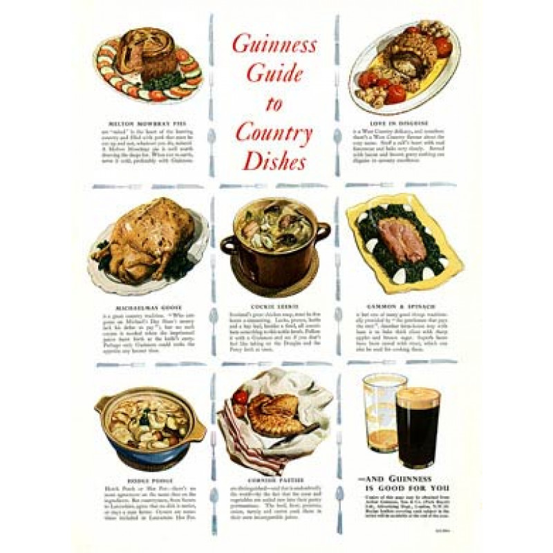 Guinness, Country Dishes, 1953
