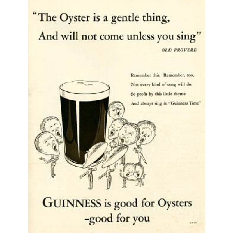Guinness, Good For Oysters, 1933