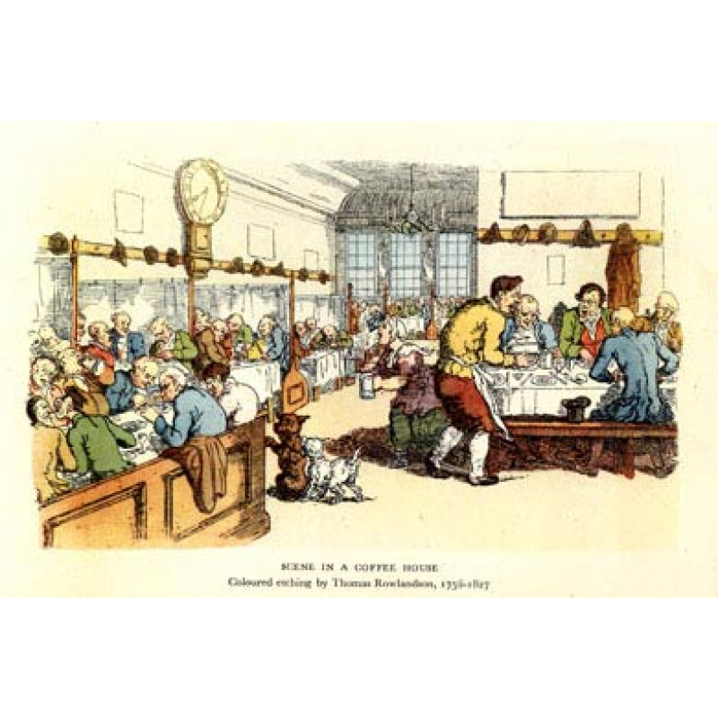 Coffee House by Rowlandson