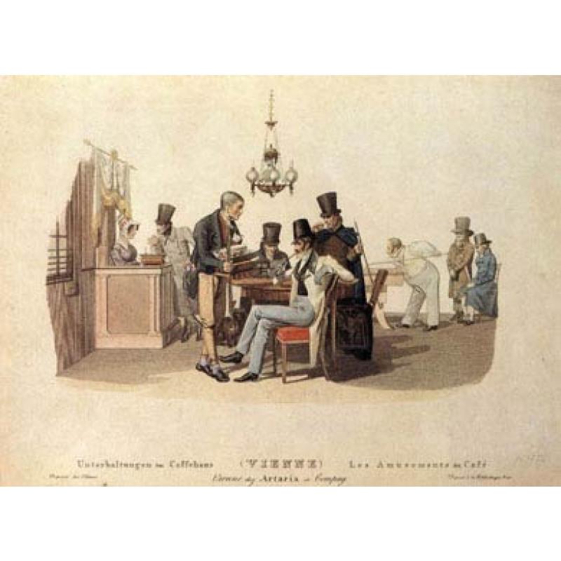 Coffee House Amusements, Vienna, 1820