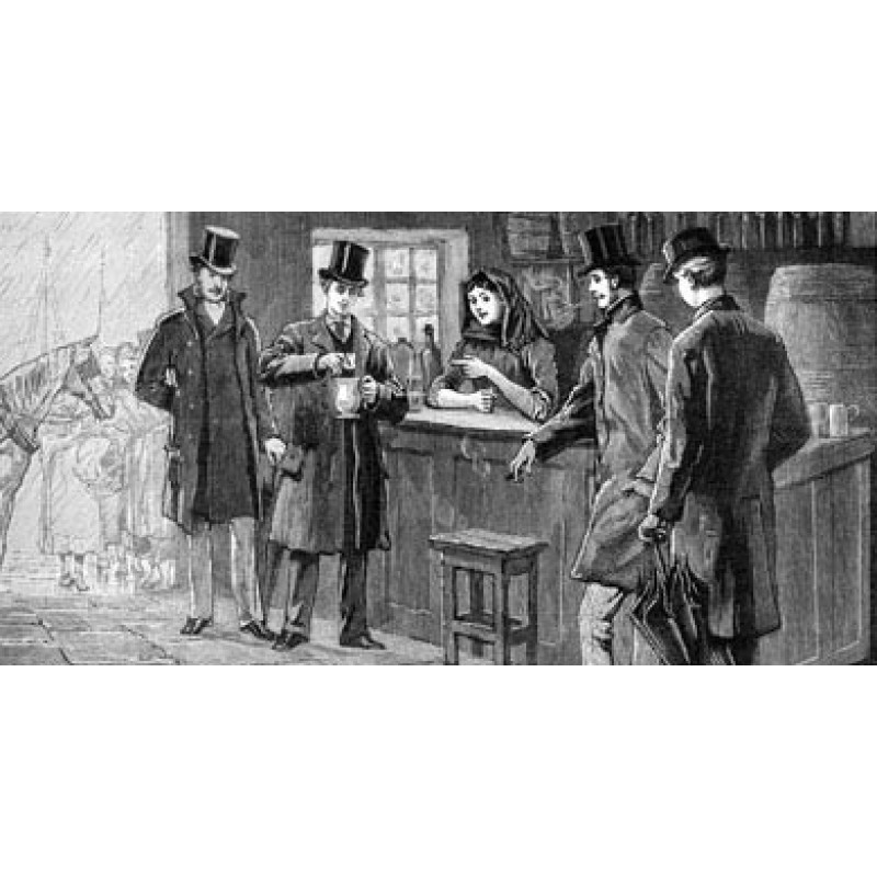 Prince of Wales drinks Poteen, 1888