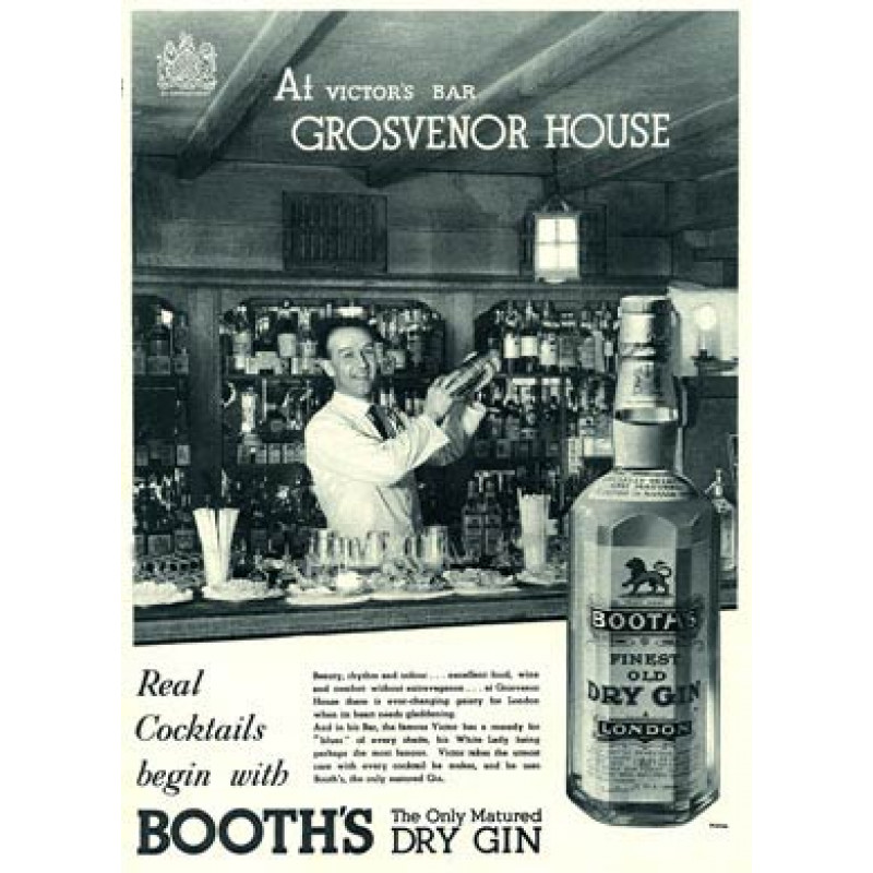 Booth's Gin, Grosvenor House