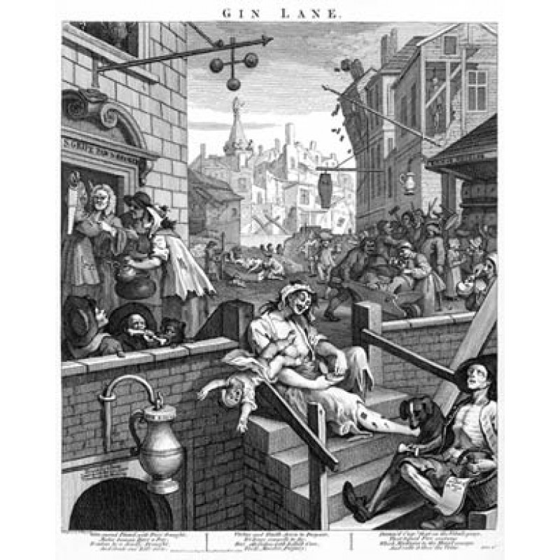 Gin Lane, William Hogarth