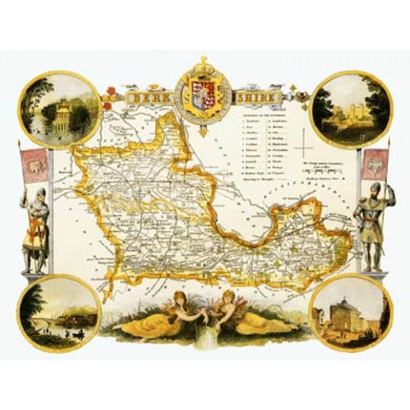 Berkshire, Thomas Moule Map