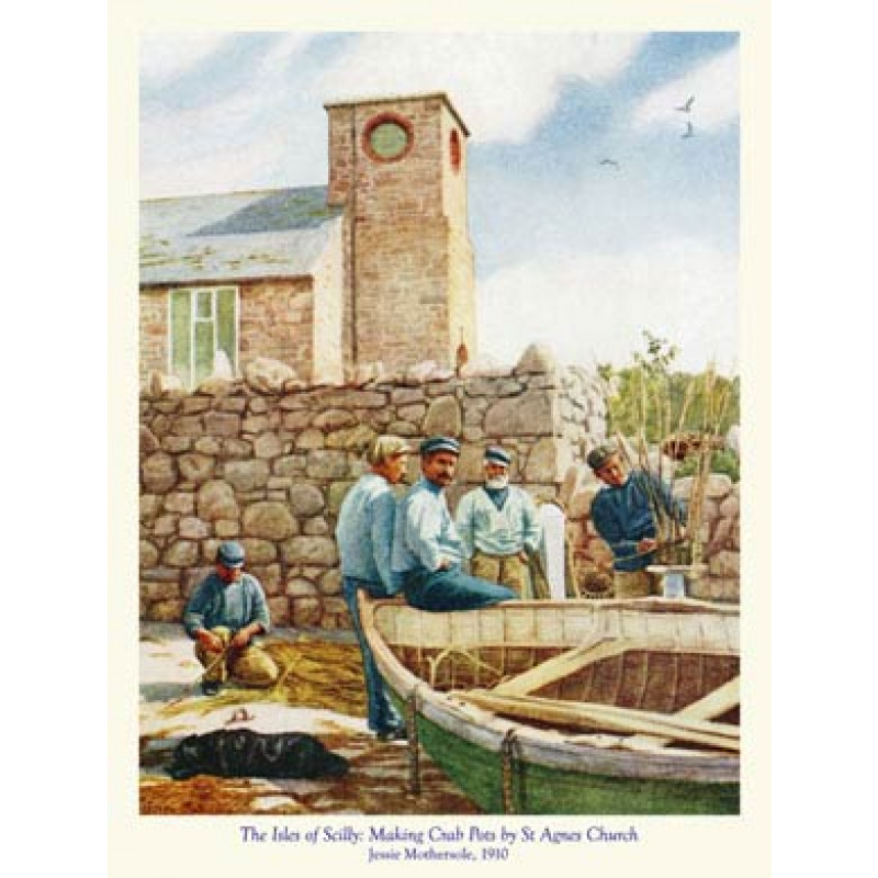 Scilly, Making Crab Pots By St Agnes Church