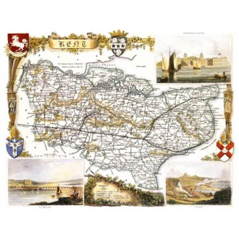 Map of Kent, 1852