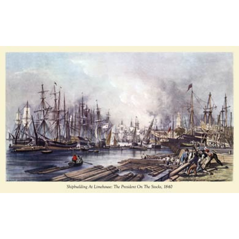 Shipbuilding At Limehouse 1840