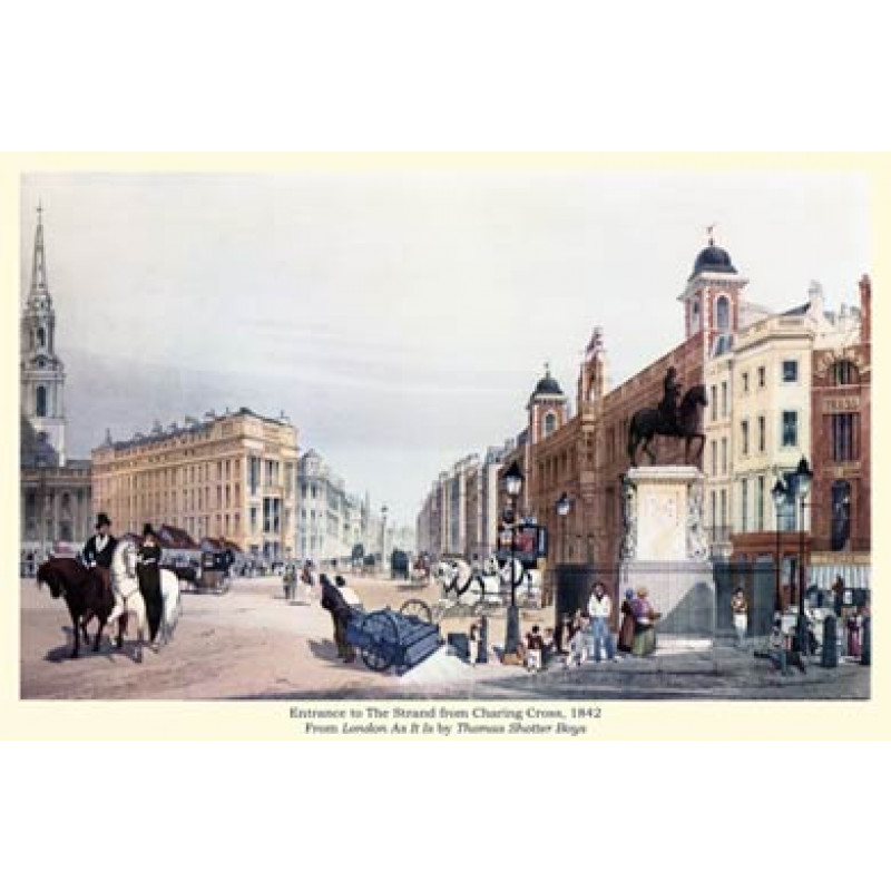 Entrance To The Strand from Charing Cross, 1842