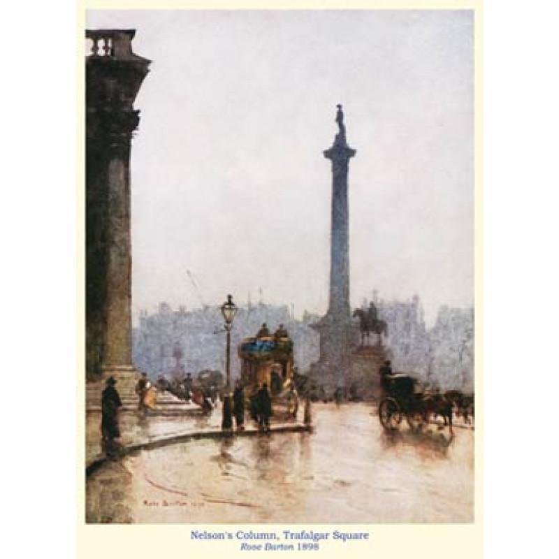 Nelsons Column, Trafalgar Square, 1898