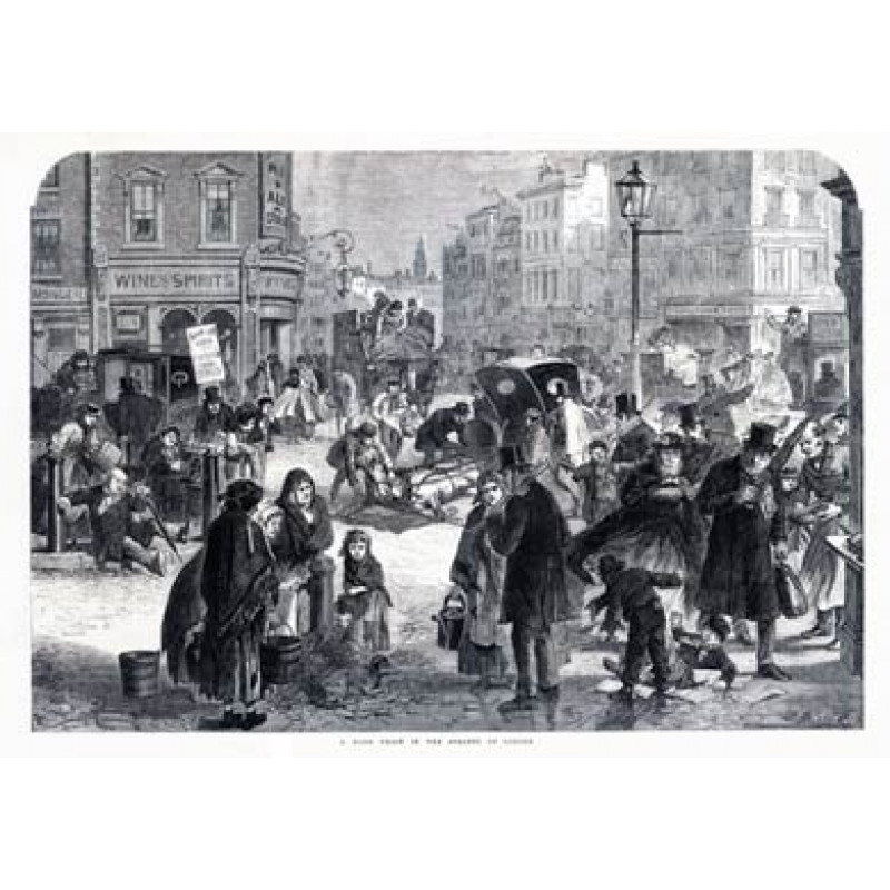 Hard Frost in the Streets of London, 1865