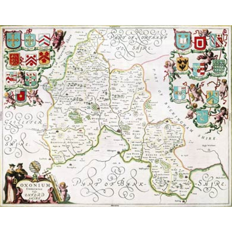 Oxfordshire, Jansson's Atlas, 1658