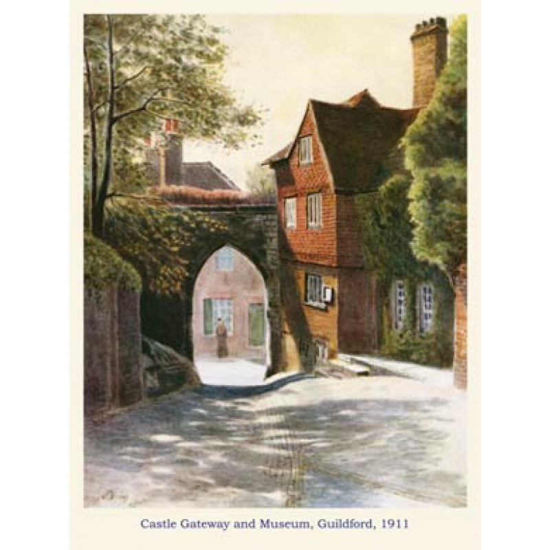 Castle Gateway and Museum, Guildford, 1911