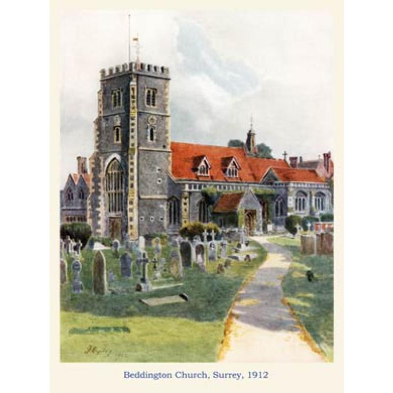 Beddington Church, 1912
