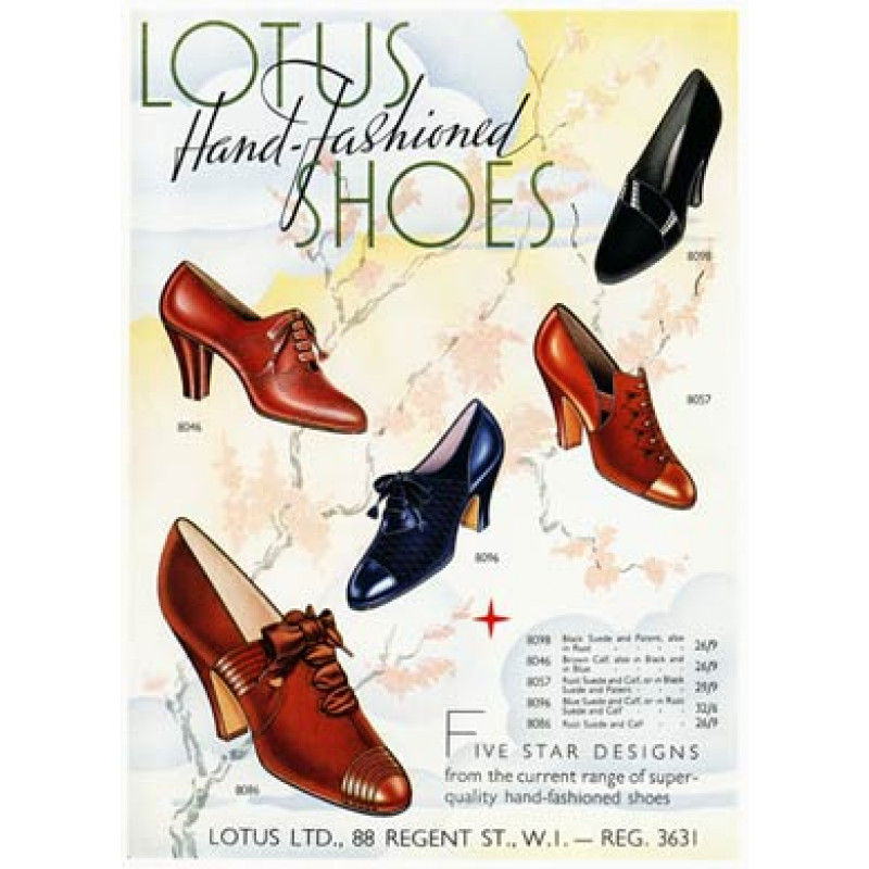 Lotus Shoes, 1938