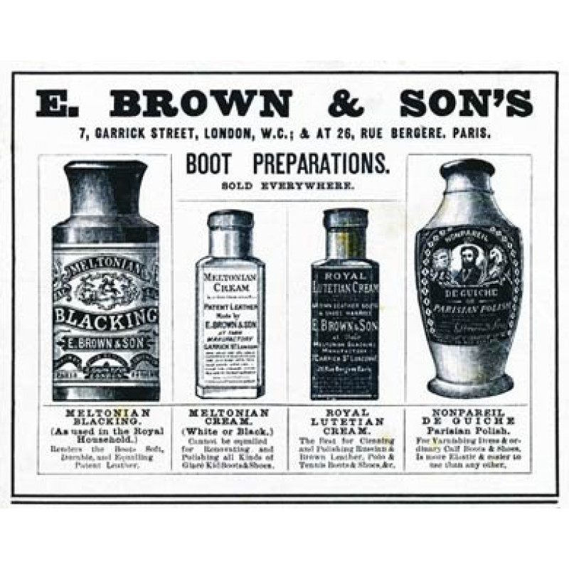 E Brown Shoe Polish, 1906