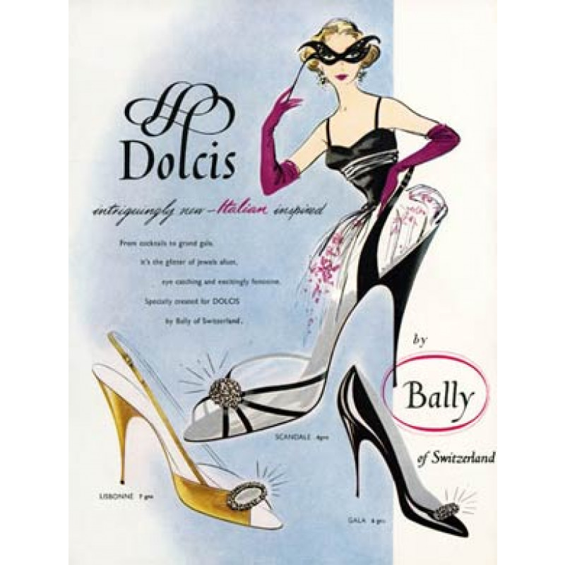 Dolcis Shoes, By Bally, 1956