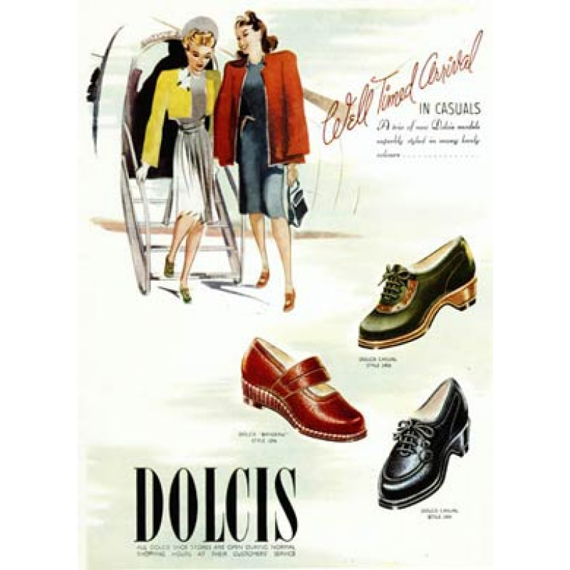 Dolcis Shoes, Well Timed Arrival, 1946