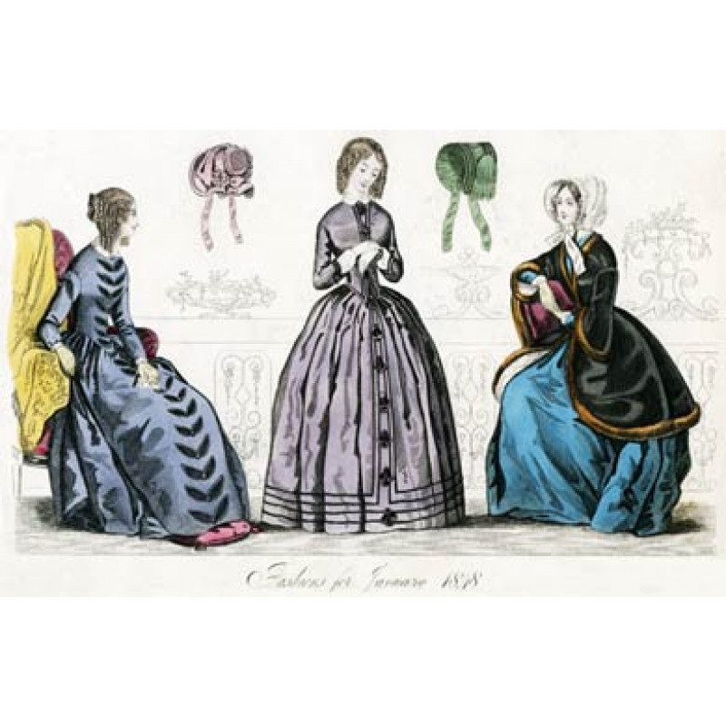 Fashions For January 1848