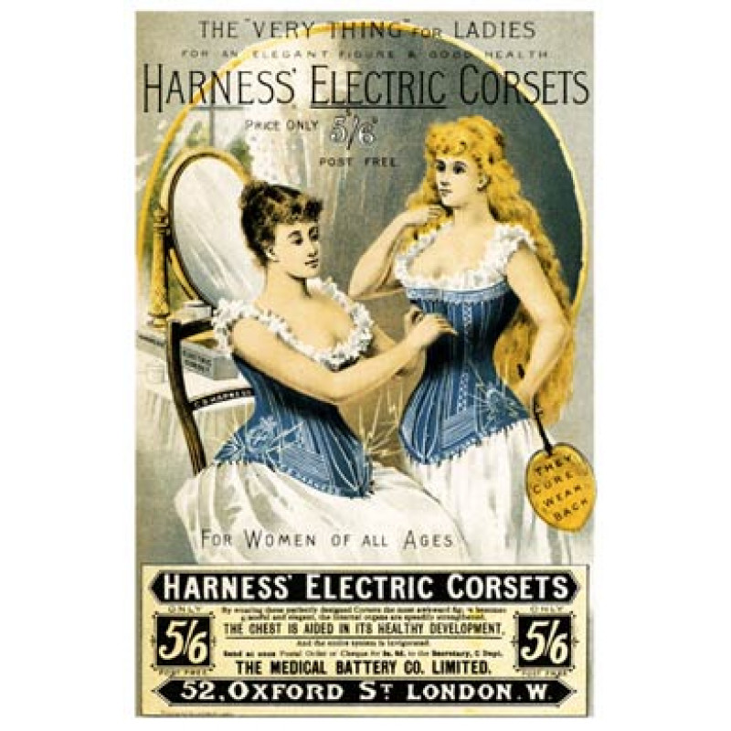 Harness Electric Corsets, 1893