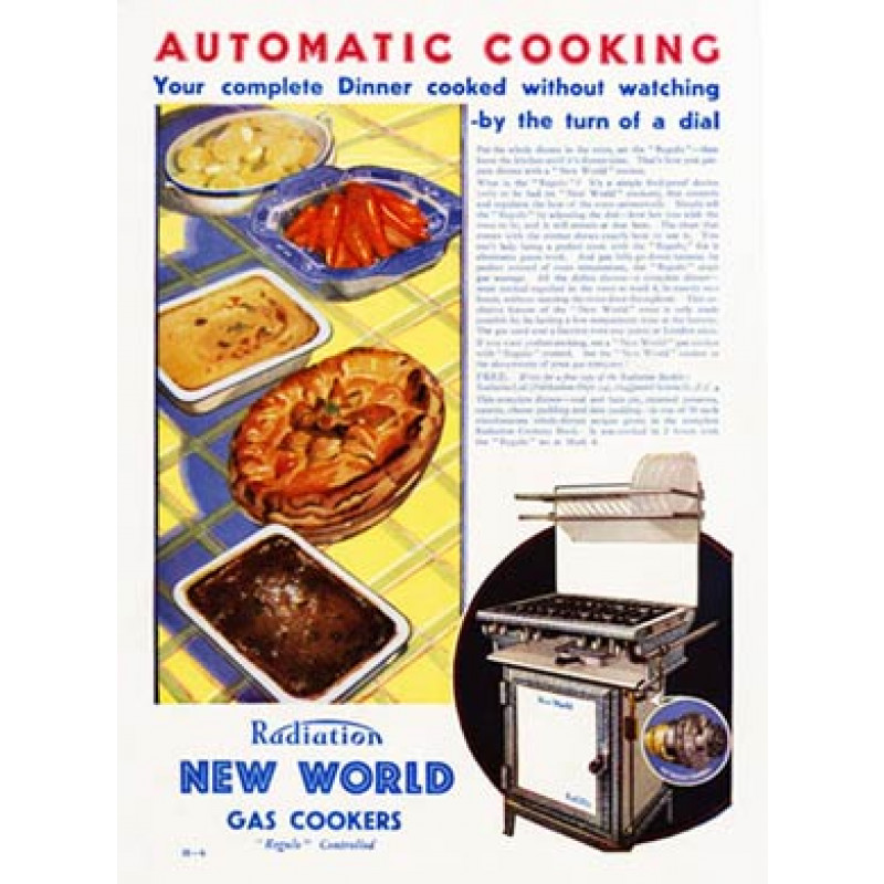 New World Gas Cookers, 1932