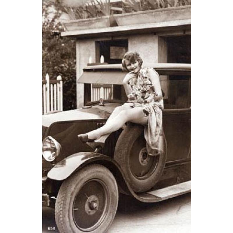 Lady On A Car