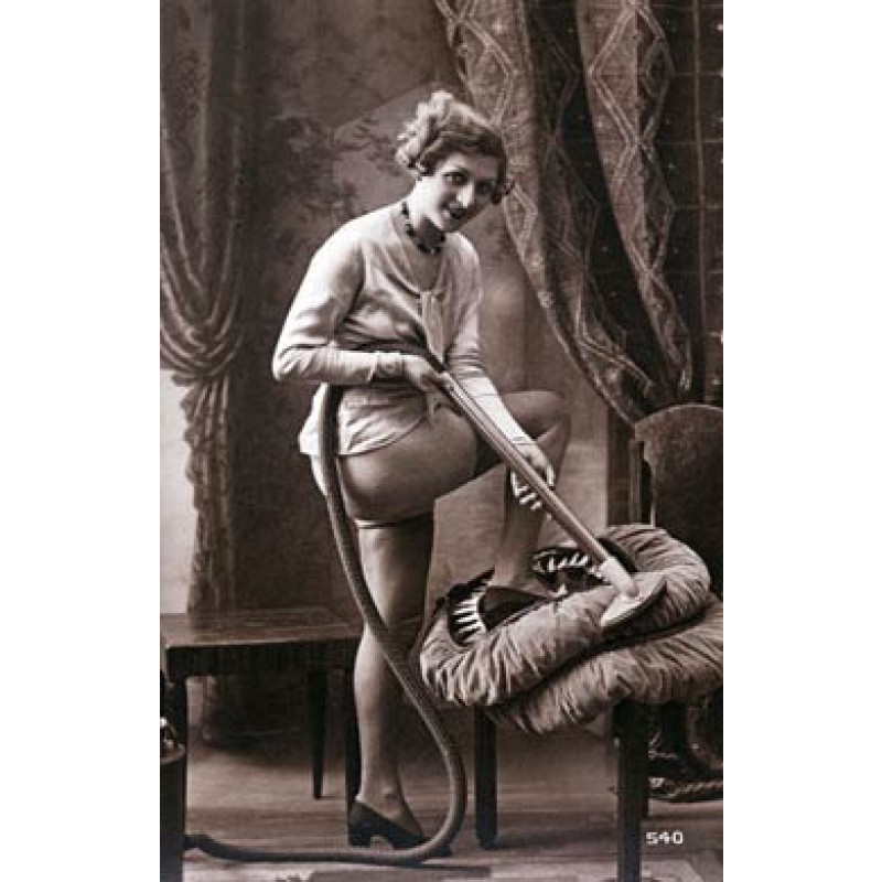 French Maid Hoovers Chair