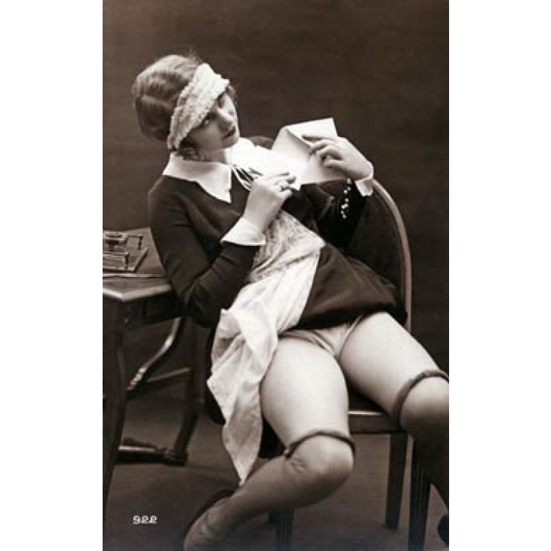 French Maid Seals The Letter
