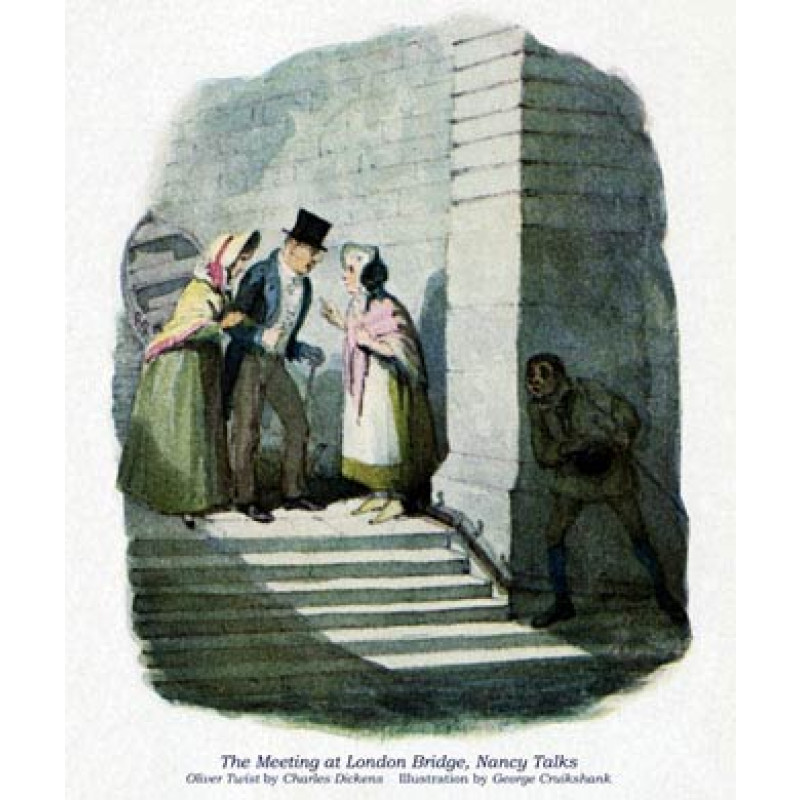 Oliver Twist, The Meeting At London Bridge
