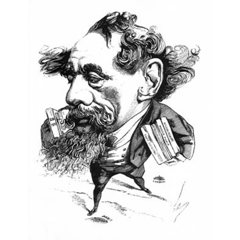 Charles Dickens, 1868 Caricature