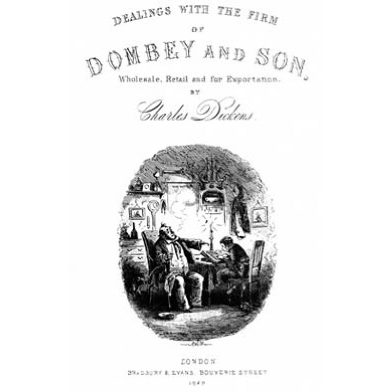 Dombey And Son, Title Page