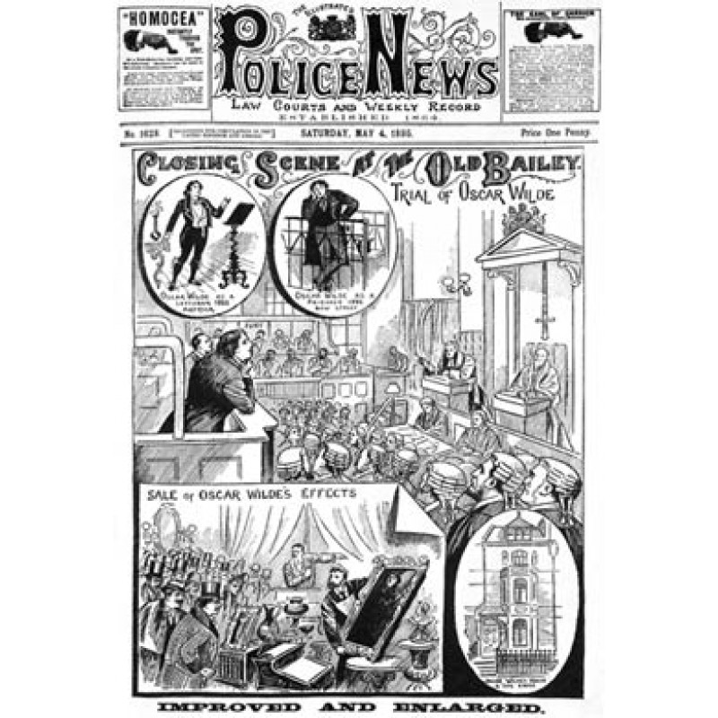 Trial Of Oscar Wilde, Police News, 1895