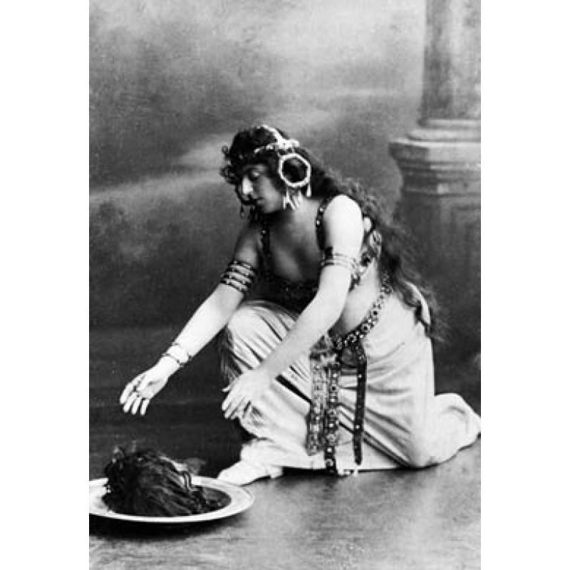 Oscar Wilde as Salome (perhaps)