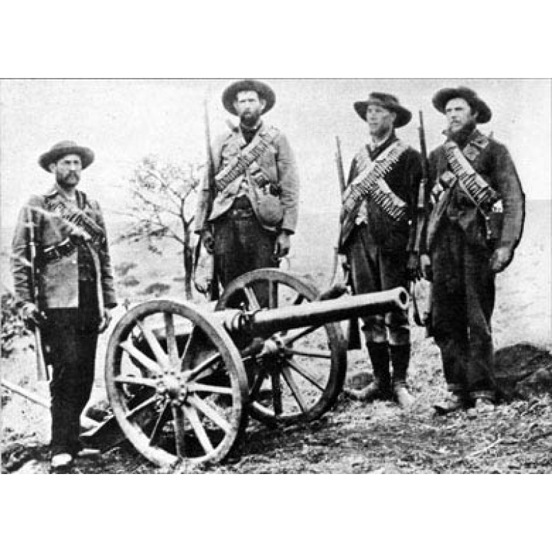 Boers With Captured Gun