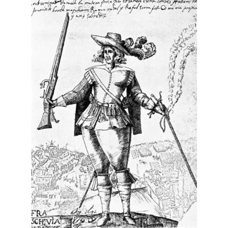 Catalan Militiaman With Arquebus, 1641