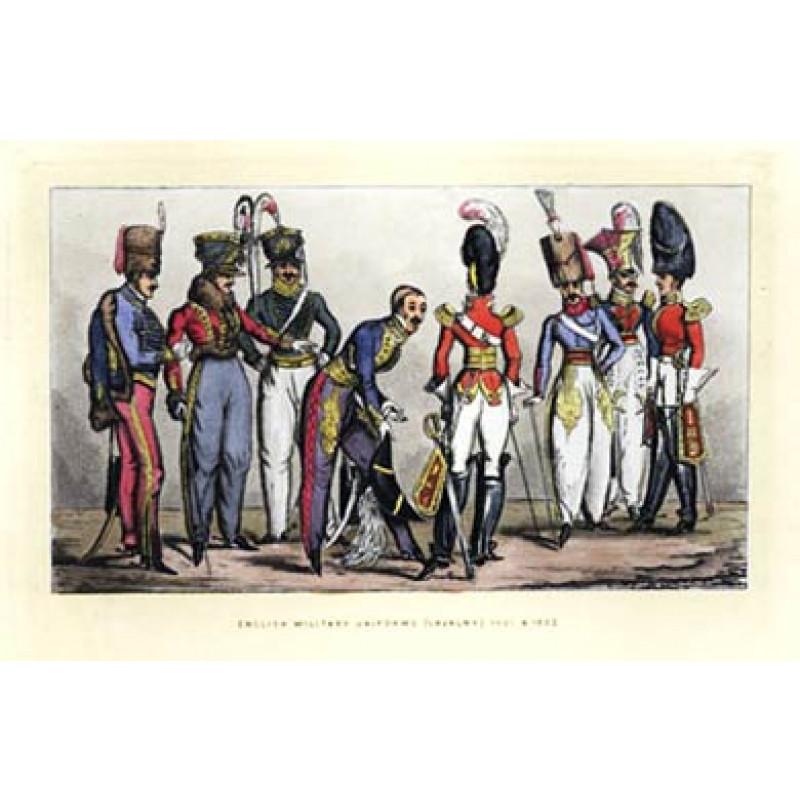 English Cavalry Uniforms, 1822