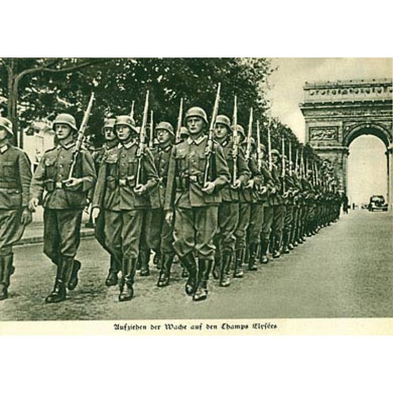 German Troops in the Champs Elysees