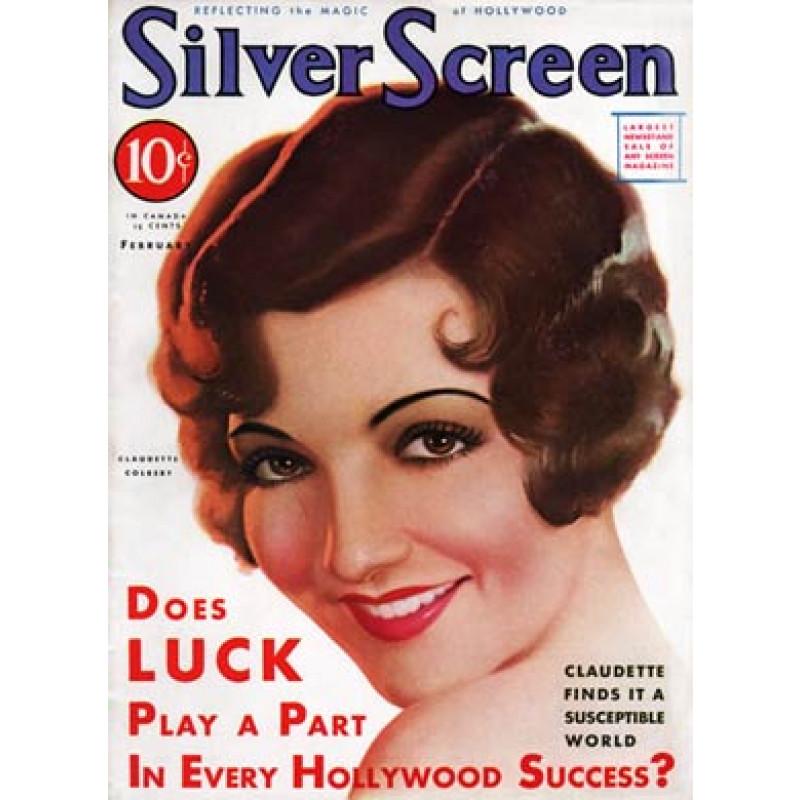 Silver Screen, Feb 1932, Claudette Colbert