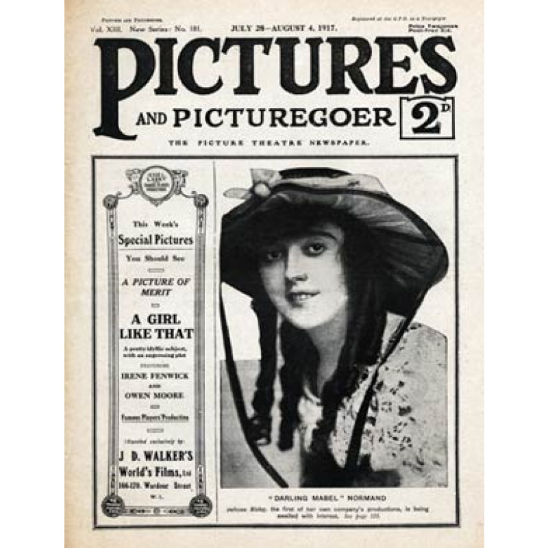 Pictures & Picturegoer, July 1917, Mabel Normand