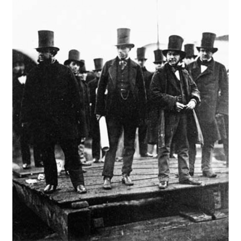 Brunel at the Launching of The Great Eastern, 1857